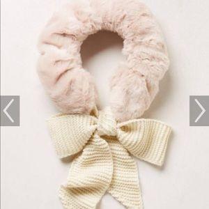 Anthropologie faux fur scarf